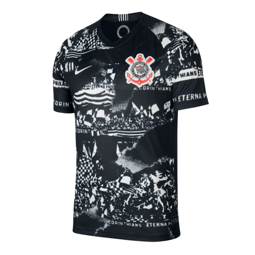 SC Corinthians 19/20 Third Away Black Jerseys Shirt(Match Version)